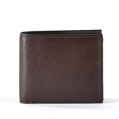 5174467a4eab Image Unavailable. Image not available for. Color  COACH Compact ID Sport  Calf Bifold Wallet ...
