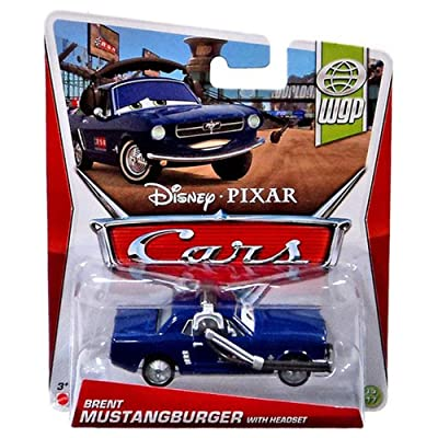Disney Pixar Cars BRENT MUSTANGBURGER WITH HEADSET - WGP SERIES Series #15/17 - 1:55 Scale: Toys & Games