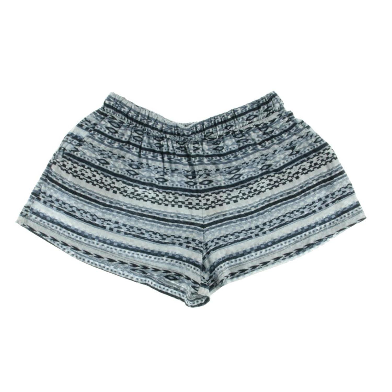 Michael Stars Womens Modal Blend Printed Casual Shorts Blue XS