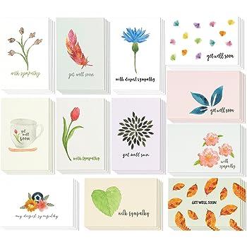 sympathy cards 48 pack sympathy cards bulk greeting cards sympathy watercolor floral - Bulk Sympathy Cards