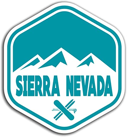 2 pegatinas de vinilo de Sierra Nevada España de 10 cm – Fun Sticker #32043 10cm Tall: Amazon.es: Oficina y papelería