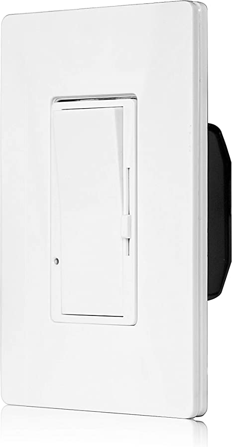 WALL DECORA SINGLE POLE 3WAY LED /& CFL HALOGEN ROCKER SWITCH DIVA DIMMER WHITE