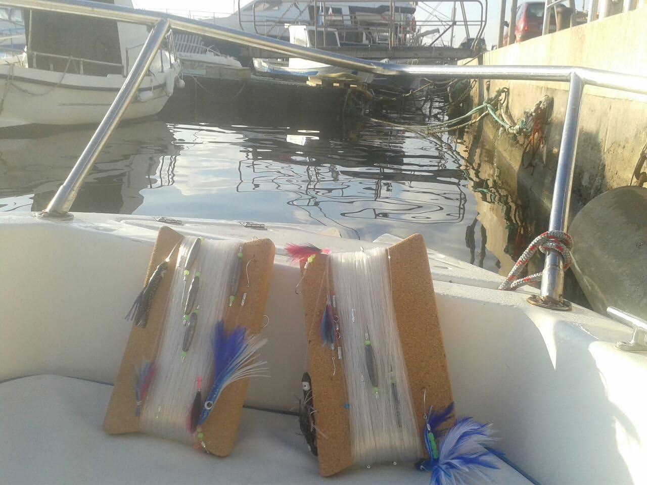 Cable de arrastre con plumas y pulpito para dorados, atunes y ...