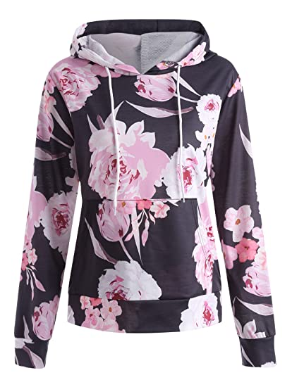 c5c6ca10f5735 CharMma Women s Casual Plus Size Floral Print Pullover Hoodie Sweatshirt at  Amazon Women s Clothing store