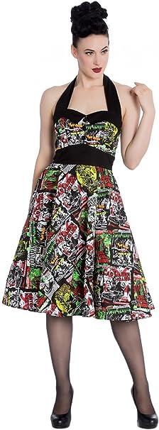 Hell Bunny B Movie 50/s Dress 4141/Black Multi