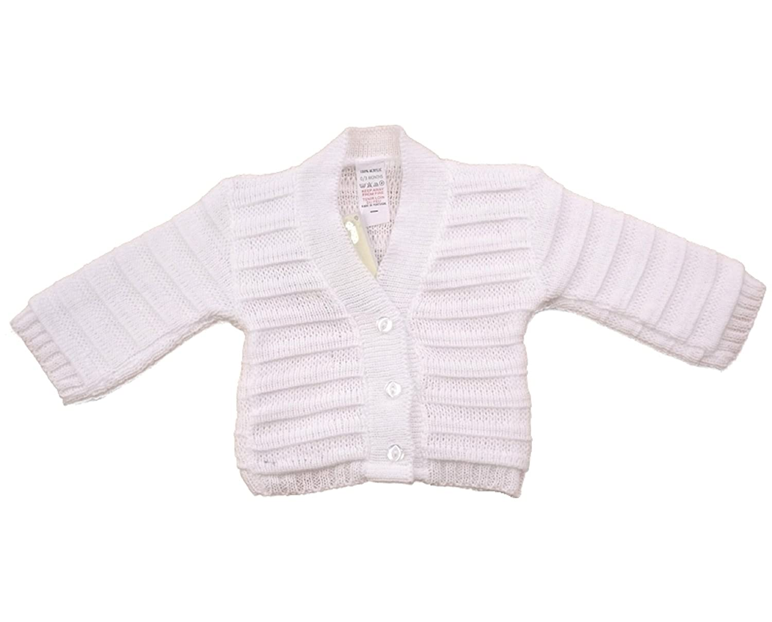 c29aaa05d3c1 Baby Girls Boys Knitted Cardigan 0-12 Months Pink White Sky Blue (6 ...