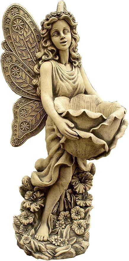 CATART Figura Decorativa Hada en hormigón-Piedra para el jardín Exterior 80X31cm.: Amazon.es: Jardín