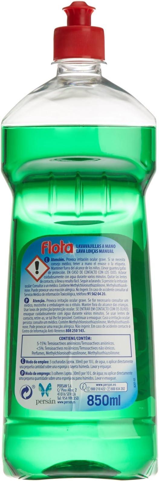 Flota - Lavavajillas Liquido a Mano - 850 ml: Amazon.es ...