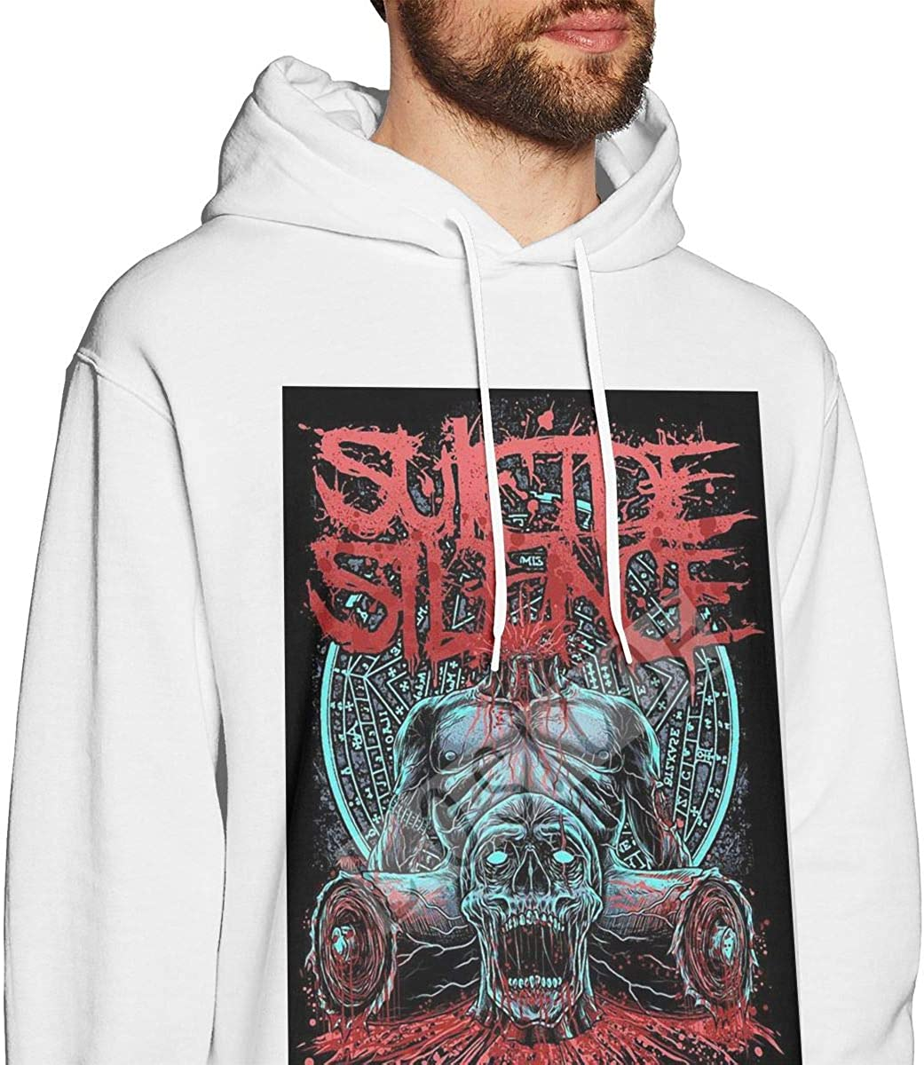 QINQIN Suicide Silence Cool Mens Hat and Pocketless Sweater Black