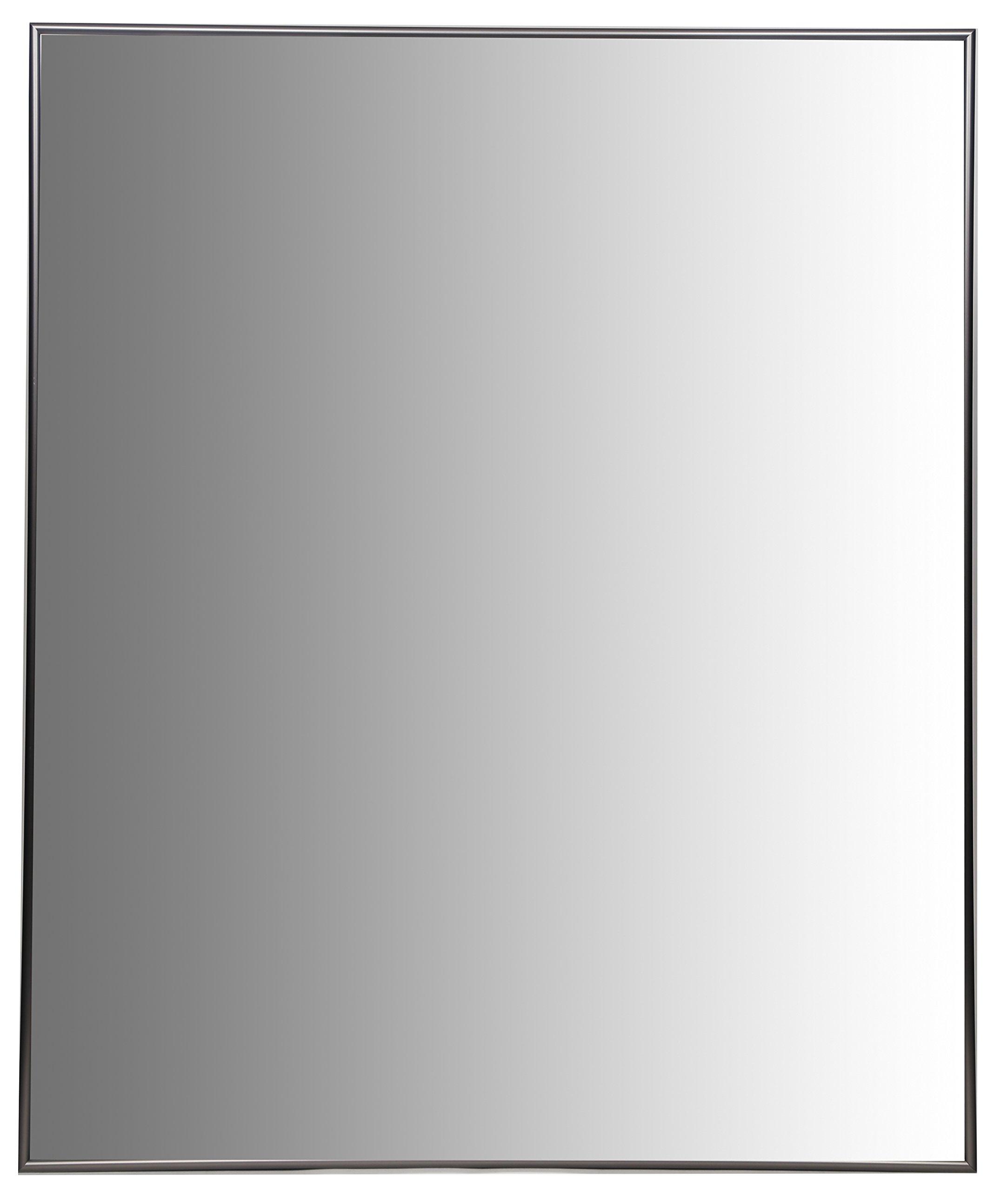 Nielsen Bainbridge 24x30 Rectangular Aluminum Wall Mirror | Vanity Mirror, Bedroom or Bathroom | Hangs Horizontal or Vertical | Nickel