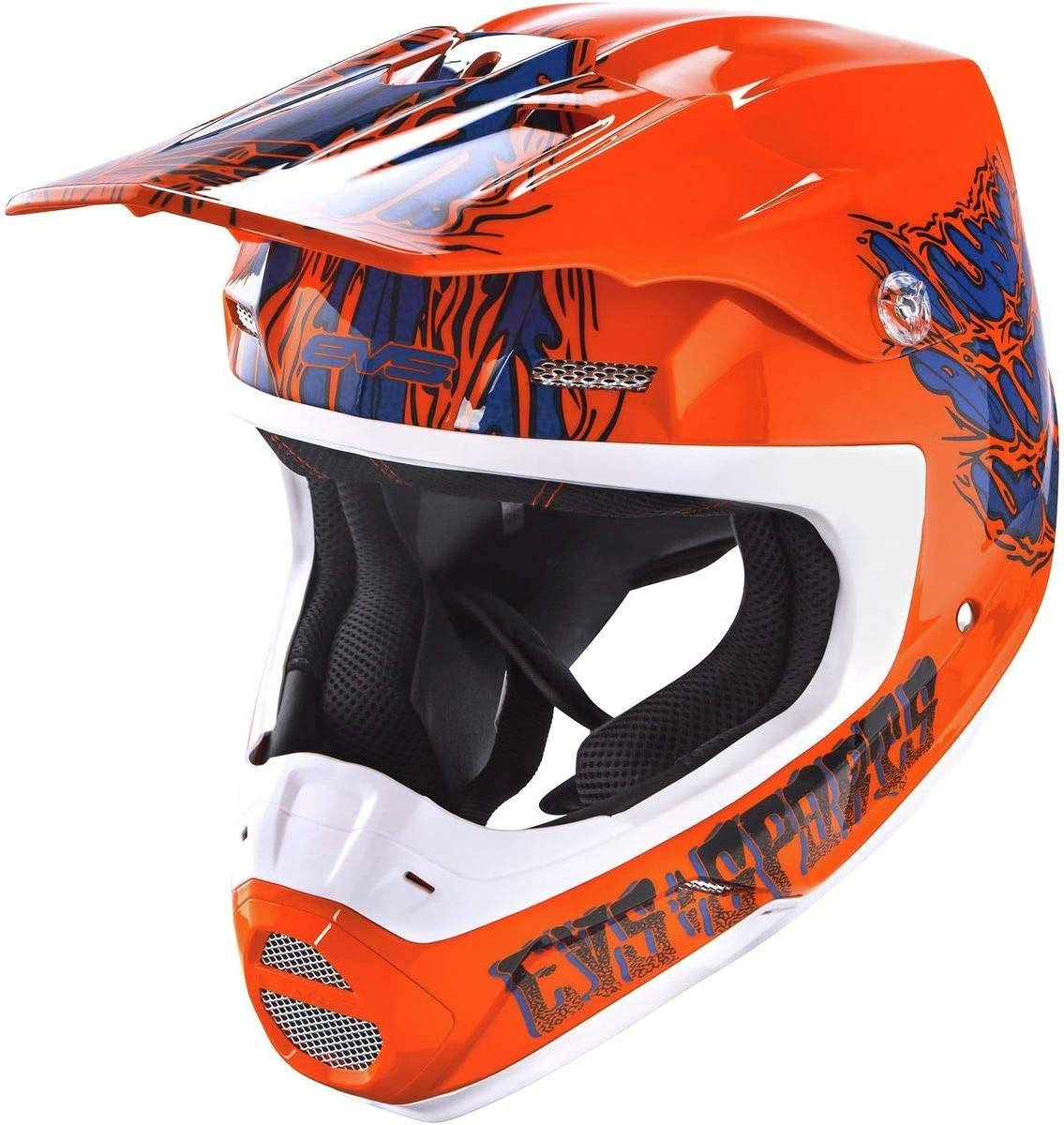 Egon EVS Sports unisex-adult off-road-helmet-style T5 Helmet Orange, X Small
