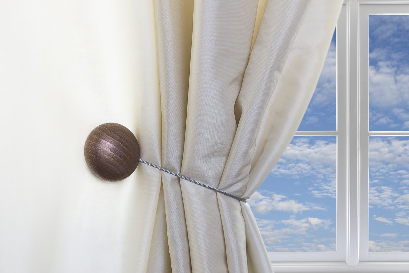 Magnaclips Curtain Tiebacks, Leno Bronze