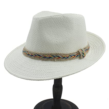 Amazon.com  Battle Men Women s Toquilla Straw Sun Hat with Colorful Hemp  Rope (Color   4 bf012ee97c0