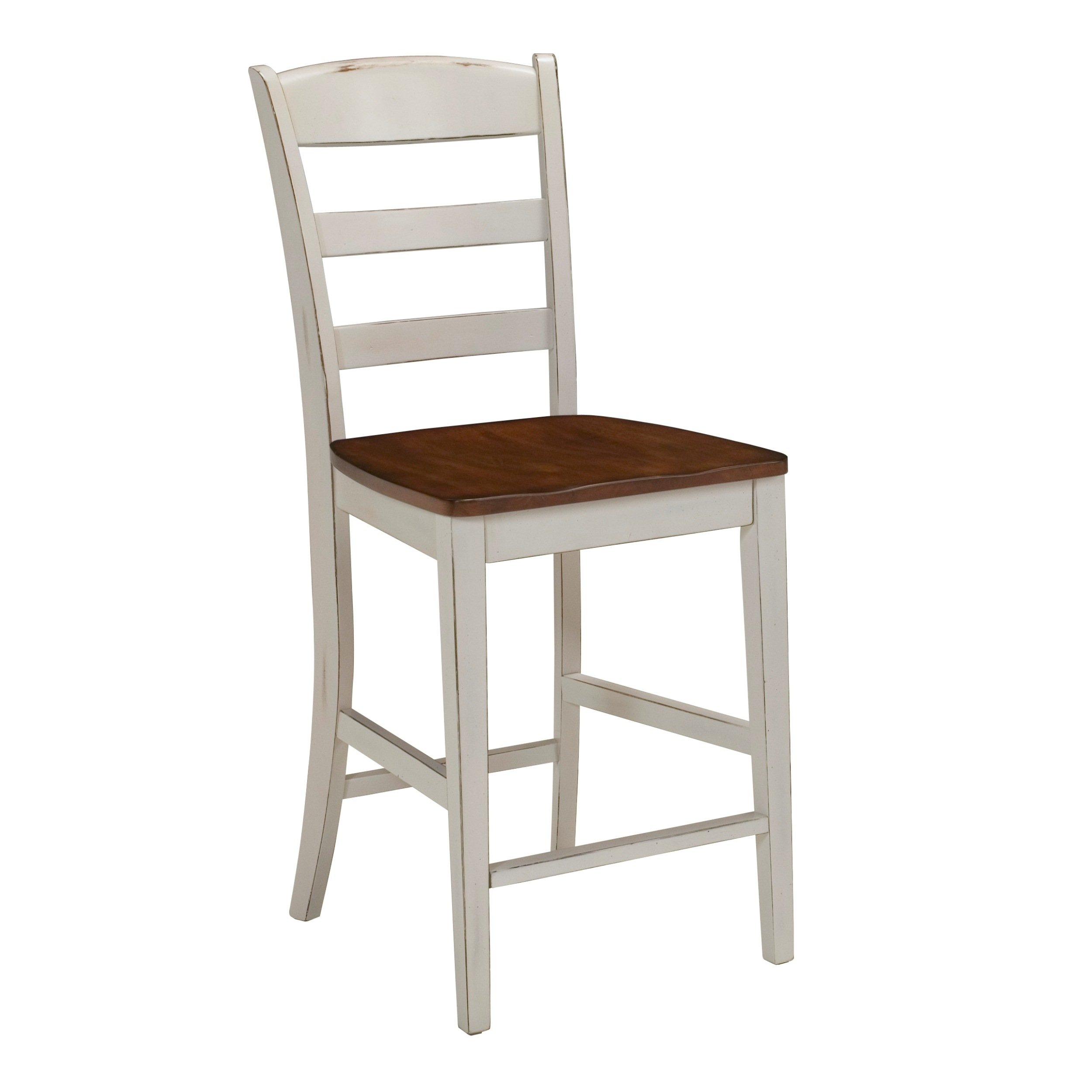Home Styles 5020-89 Monarch Stool, Antique White Finish, 24-Inch