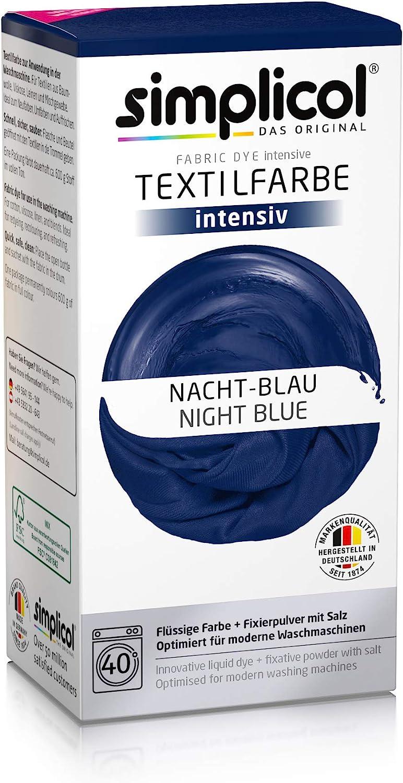 Simplicol 1818 Fácil Textil Color en la Lavadora, Polvo, Azul (Nacht-blau 1808), 2 unidades