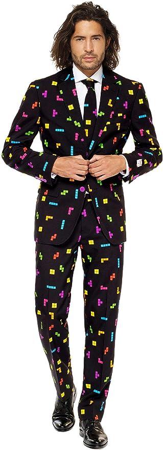 Mens OppoSuits Tetris Suit 40: Amazon.es: Juguetes y juegos