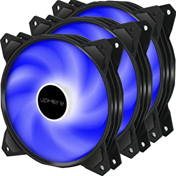 upHere 120mm 3pin LED Azul Ventilador para Ordenador -Ventilador ...