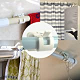 Happy household Adhesive Curtain Rod Bracket for