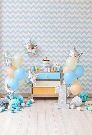 Huayi Hintergrund Zum 1 Geburtstag Rosa Luftballons Amazon De Kamera