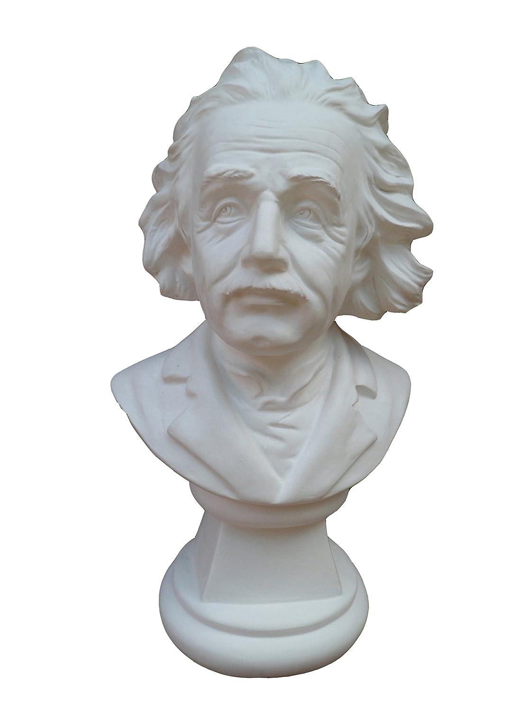 Bust of physicist Albert Einstein, height 22 cm, plaster (of paris) Gipsmanufaktur 92 520 00 W