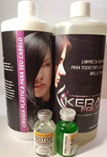 HAIR SURGERY KERAFRUIT 1 LITRE SHAMPO AND TREATMENT AND (2) BLISTERS