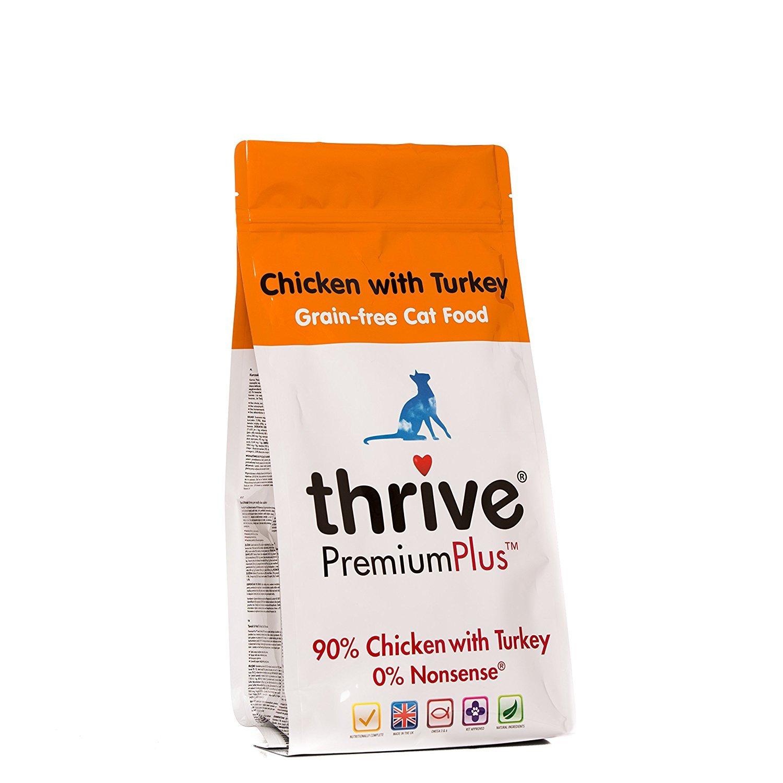 Thrive PremiumPlus Poulet & Dinde Aliment sans Céréales pour Chat 1, 5 kg TRTAZ11A