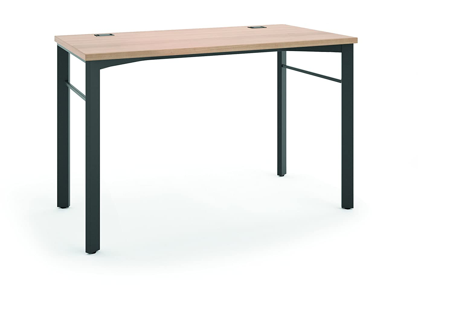 HON Manage Table Desk   Compact Work Station, 60w X 23.5d X 29.5h,  Wheat/Ash (HMNG60WKSL)