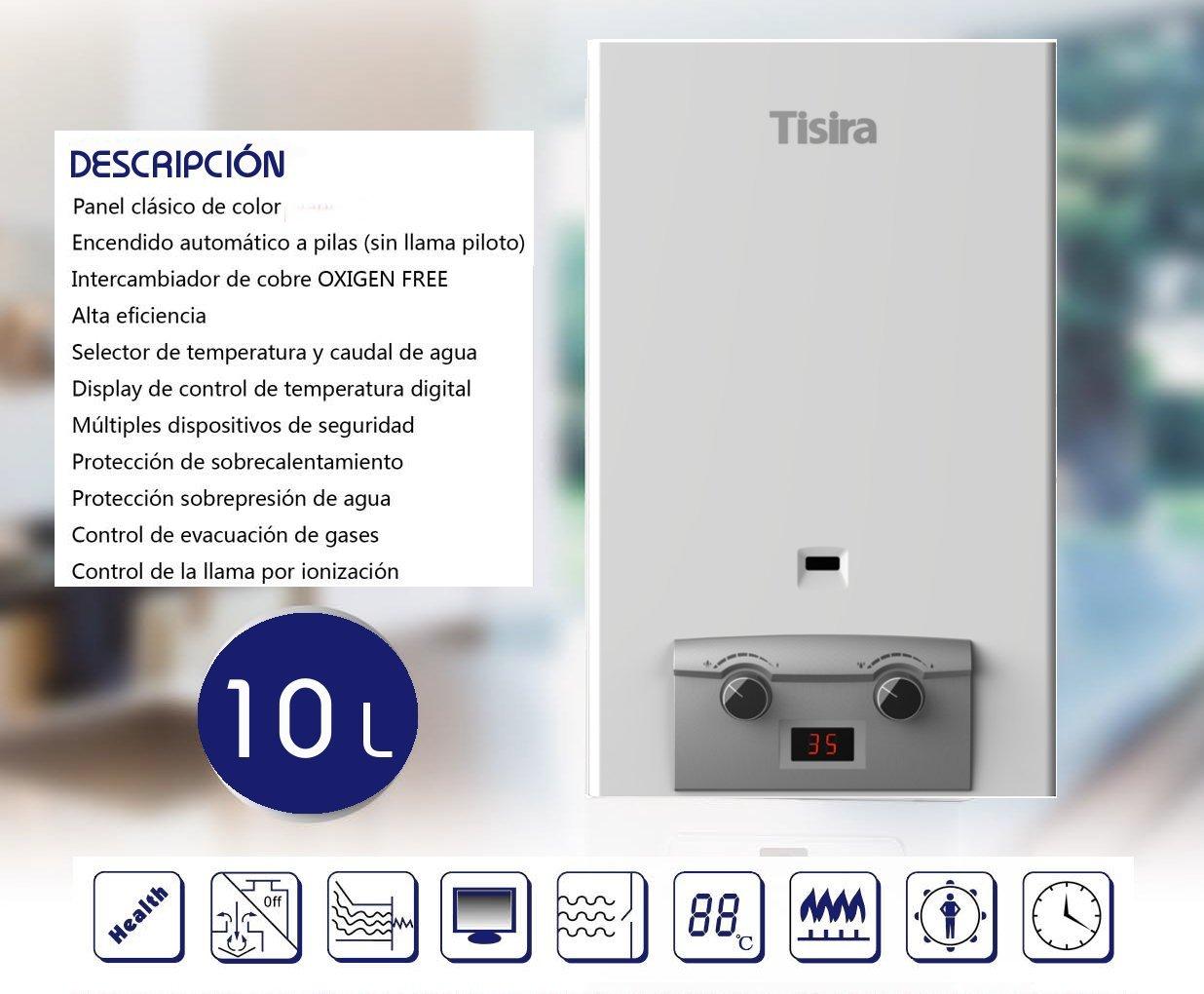 Htw - Calentador gas automático easy 10gn: Amazon.es: Bricolaje y herramientas