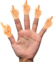 Daily Portable Tiny Hands (Middle Finger Sign) - 5 Pack - MFU Style Mini Hand Puppet