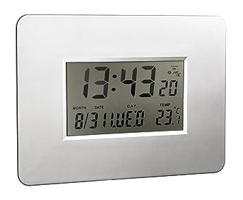 Alco 191 - 2 LCD Reloj de pared Funk, aprox. 30 x 21 x 1, 8 cm ...