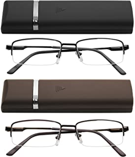 486ded1d2a Reading Glasses Thin Lightweight Spring Hinge Glasses for Reading with  Cases Men and Women