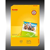Kodak 180GSM 60 Sheets Matte Finish Instant Dry 180gsm 4R Photo Paper, (5740-525)