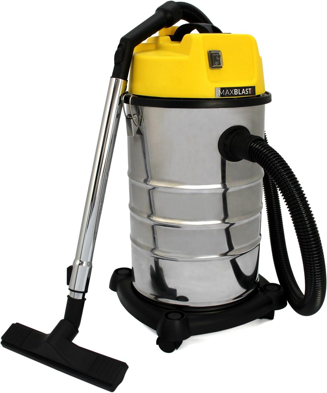 MAXBLAST - Aspiradora Industrial 30 litros en Seco y Húmedo: Amazon.es: Electrónica