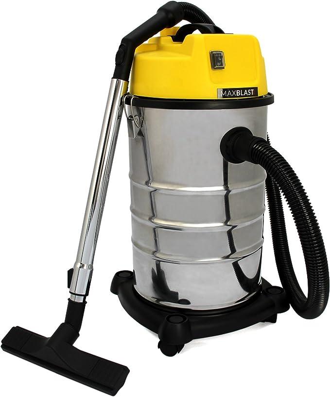 MAXBLAST - Aspiradora Industrial 30 litros en Seco y Húmedo: Amazon.es: Hogar