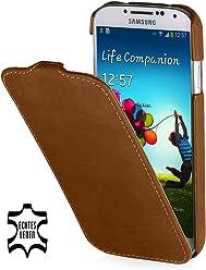 StilGut UltraSlim Case, custodia in vera pelle per Samsung Galaxy S4 i9500, marrone old style