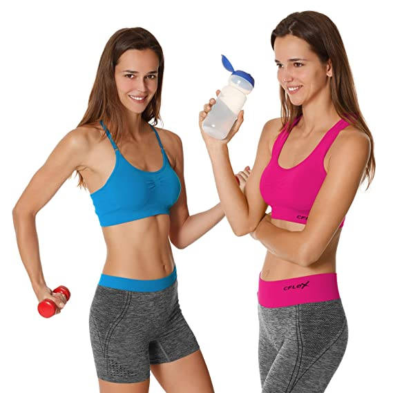 Gr/ö/ßen S-XL Qualit/ät von celodoro Tank Top Damen Stretch Sport Oberteile CFLEX Women Sportswear Collection F/ür Fitness Laufen