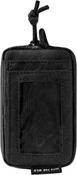 OneTigris Front Pocket Wallet with Waterproof Zippers, Small Coin Purse Change Pouch Nylon Minimalist Wallet for Men & Women (Black)