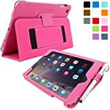 iPad Mini 3 Case, Snugg - Smart Cover with Kick Stand & (Hot Pink Leather) for Apple iPad Mini 3 (2014)