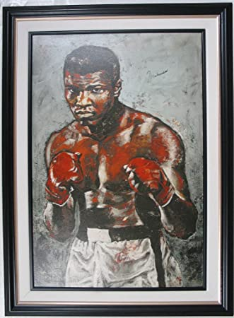 MUHAMMAD ALI & STEPHEN HOLLAND SIGNED GICLEE ON CANVAS
