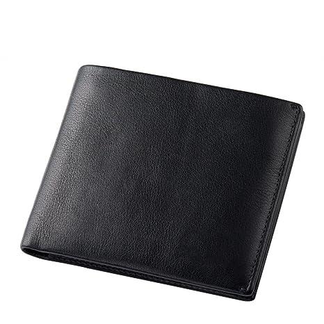 Nclon Diseñador Cartera Hombre ,Real auténtica De cuero genuino Slim Tarjeta de crédito Tarjetero para