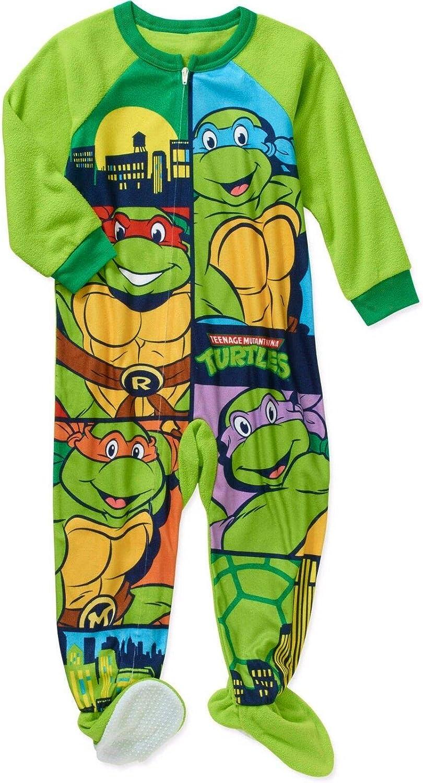 Teenage Mutant Ninja Turtles Boy Footed Sleeper Blanket Pajama Size 5T