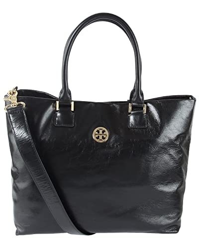 00a732d6cac6 Amazon.com  Tory Burch Leather Dena Tote - Black  Shoes