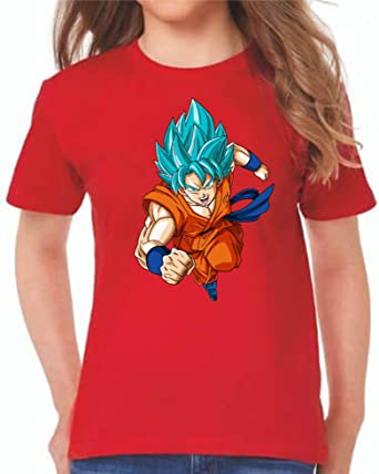 The Fan Tee Camiseta de NIÑAS Dragon Ball Goku Vegeta Bolas de Dragon Super Saiyan 076: Amazon.es: Ropa y accesorios
