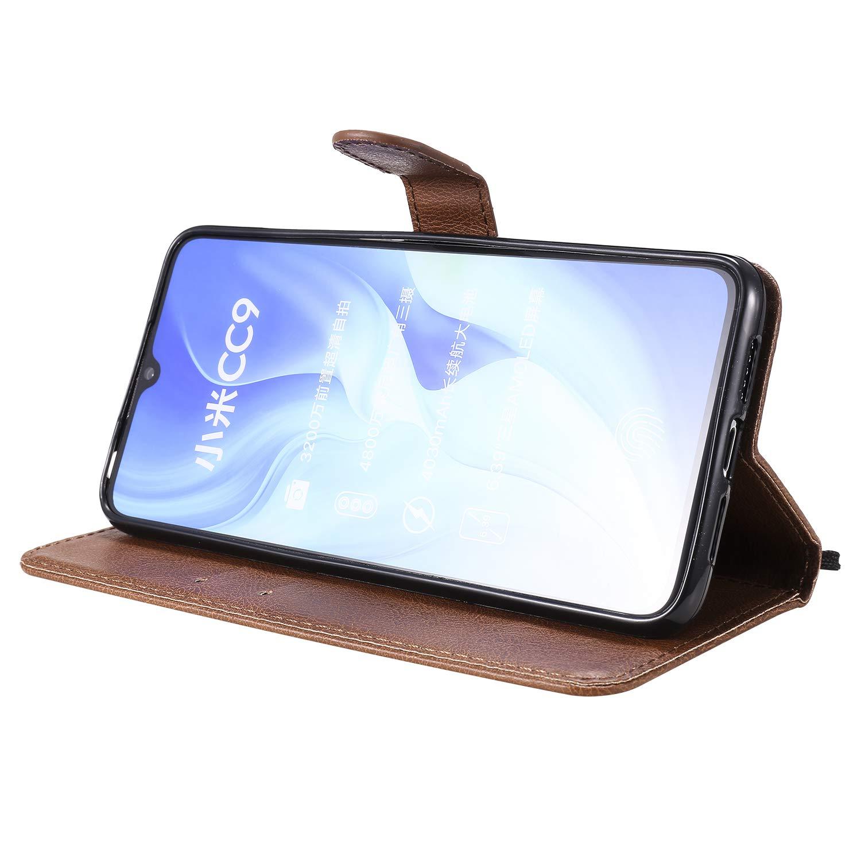 Klapph/ülle Leder Flip Case Schutzh/ülle Tasche Cover mit St/änder Magnet Kartenfach f/ür Xiaomi Mi 9 Lite CC9 NEKTU100370 Rot NEXCURIO H/ülle Xiaomi Mi 9 Lite