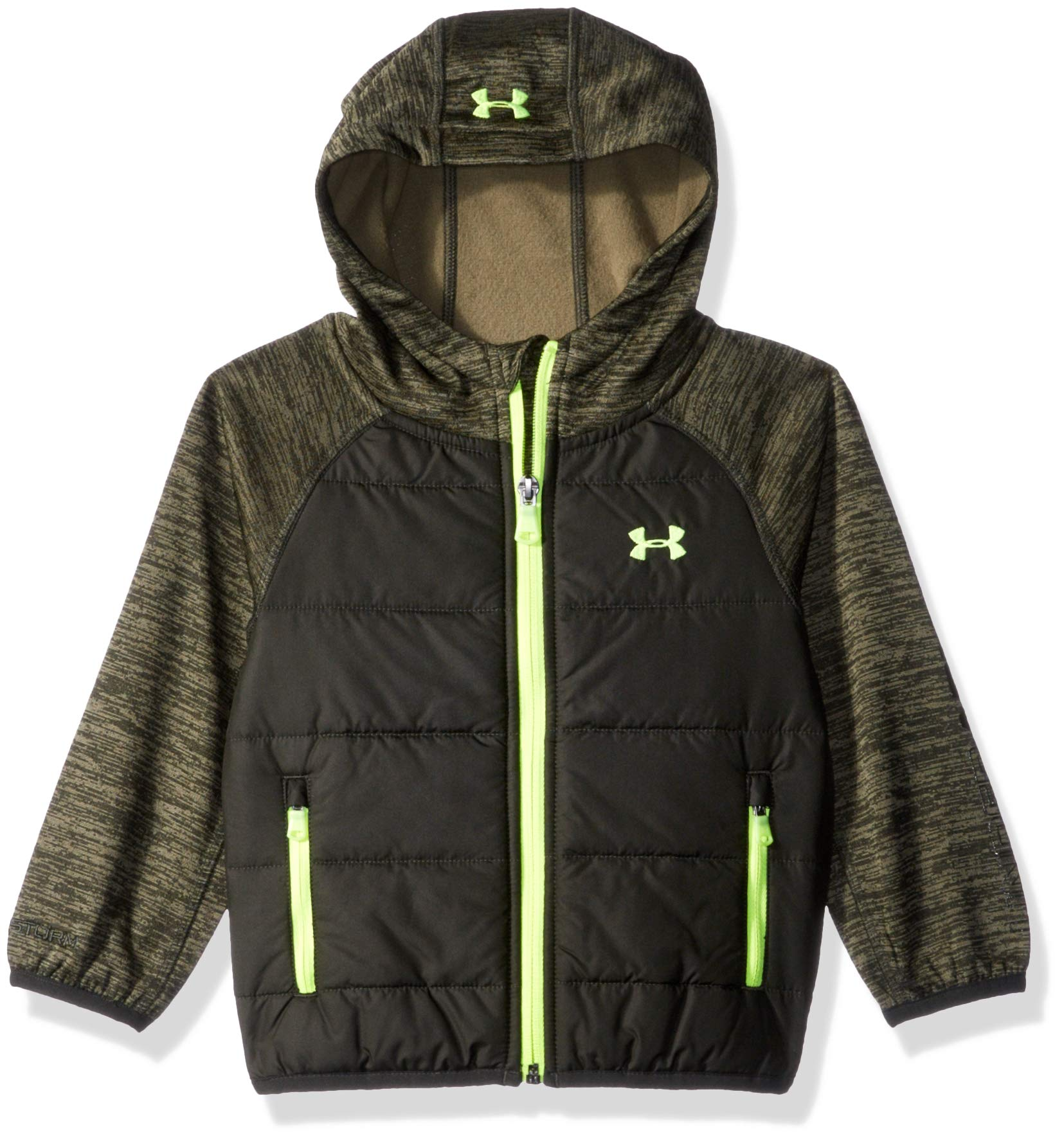 Under Armour Boys' Big' Day Trekker Hooded Hybrid Jacket, Artillery Green, Large (14/16)