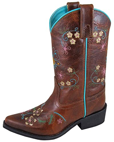 80f0d832e8 Amazon.com: Smoky Mountain Boys' Snake Print Cowboy Boot Round Toe ...
