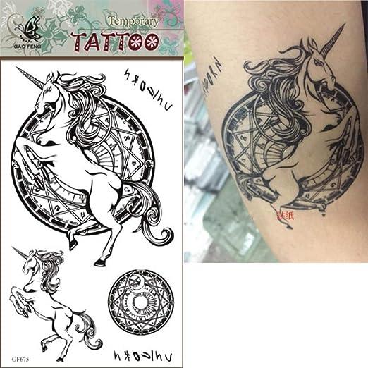 tzxdbh 3 Piezas de Tatuaje Impermeable Etiqueta Tiger Dragon ...