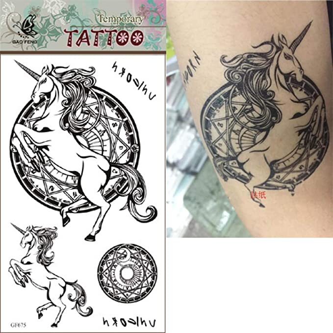 ljmljm 6 Piezas Etiqueta engomada del Tatuaje a Prueba de Agua ...