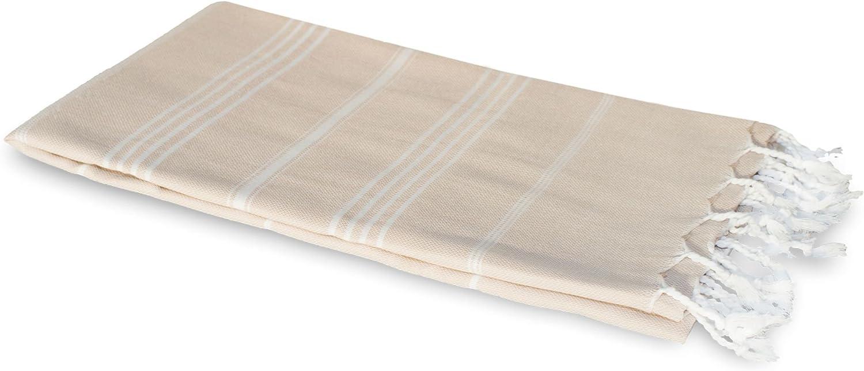 extra breit und leicht Fouta Turkish Towel Badetuch Strandtuch 100 x 170 cm 100/% Baumwolle Carenesse Hamamtuch SULTAN beige Pestemal Hamam Tuch Handtuch Backpacker Saunatuch