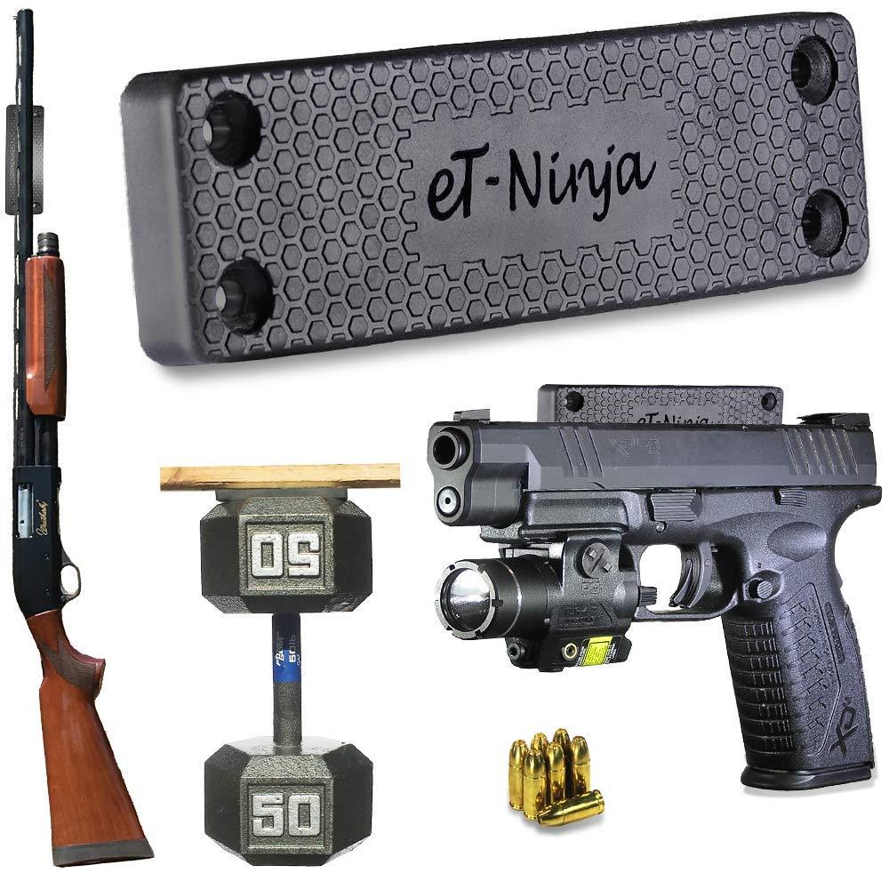 Magnetic Gun Mount Holster 53lb. - Gun Magnet Mount (1-Pack) - Discreet Tactical Concealed Carry Handgun Holder for Car Truck Under Desk Bedside Wall w/Anti Scratch Rubber Coating eTradewinds
